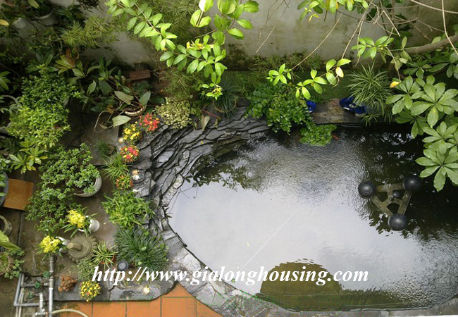 Garden house with 2,5 floor for rent in Doi Can 11