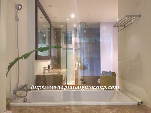 Lake view apartment in Quang An for rent 12