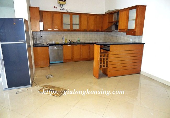 Lake front unfurnished house with car garage, Dang Thai Mai 11