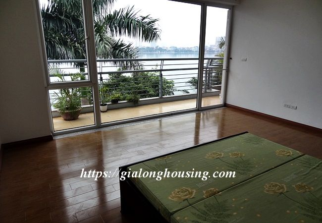 Lake front unfurnished house with car garage, Dang Thai Mai 20
