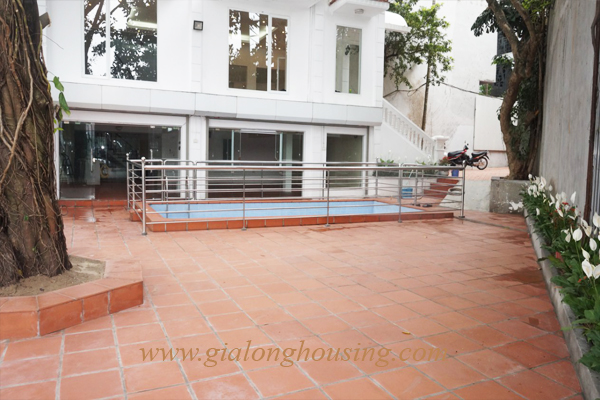 Swimming pool villa for rent in To Ngoc Van street,Tay Ho district 2