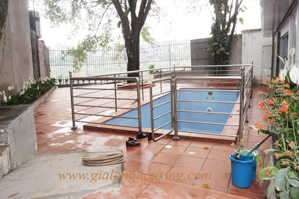 Swimming pool villa for rent in To Ngoc Van street,Tay Ho district 4