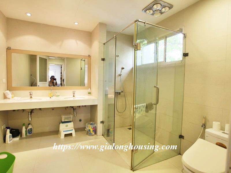 Charming house in Tay Ho for rent with modern furniture 18