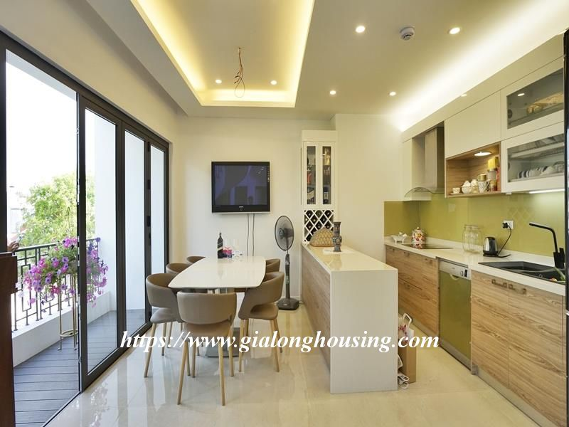 Bright duplex serviced apartment in Vong Thi for rent 3
