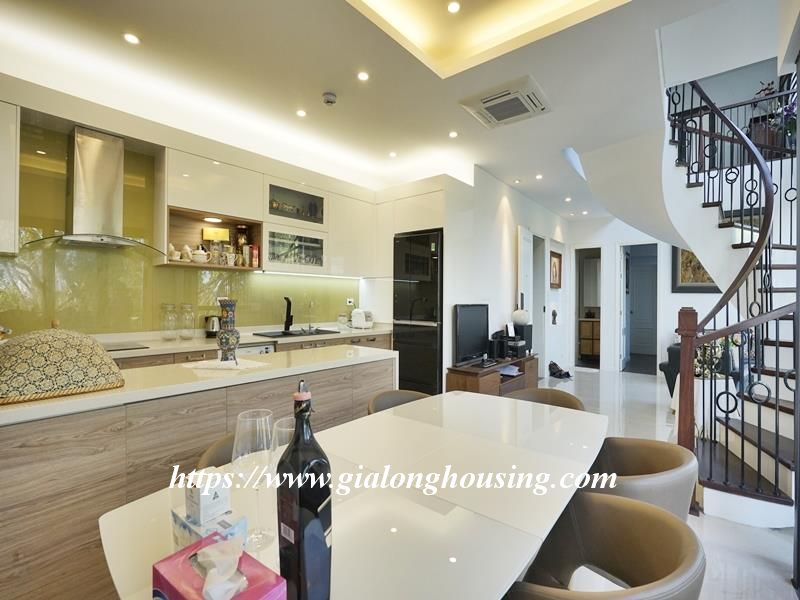Bright duplex serviced apartment in Vong Thi for rent 5