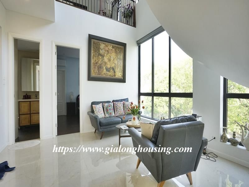 Bright duplex serviced apartment in Vong Thi for rent 7