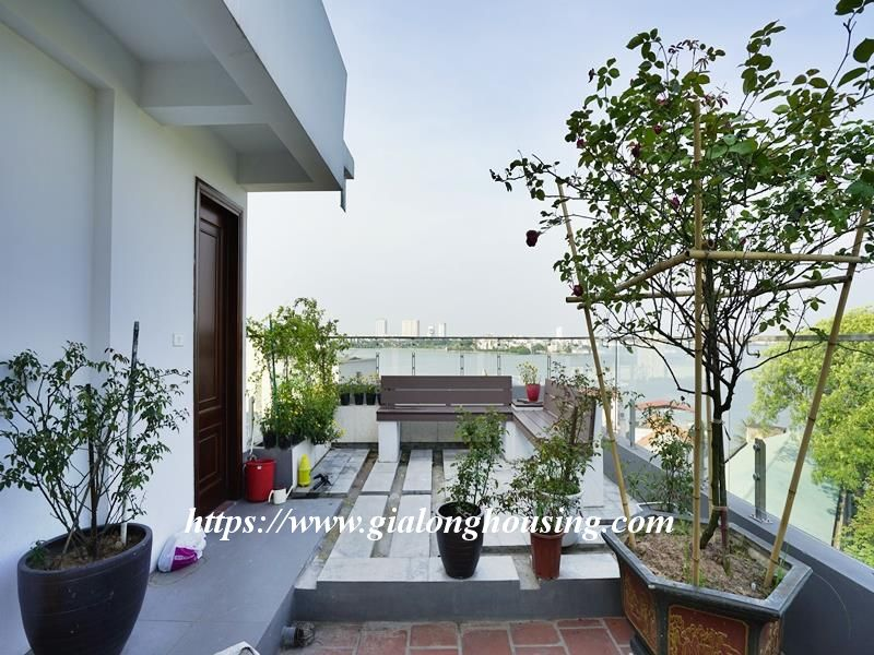 Bright duplex serviced apartment in Vong Thi for rent 1