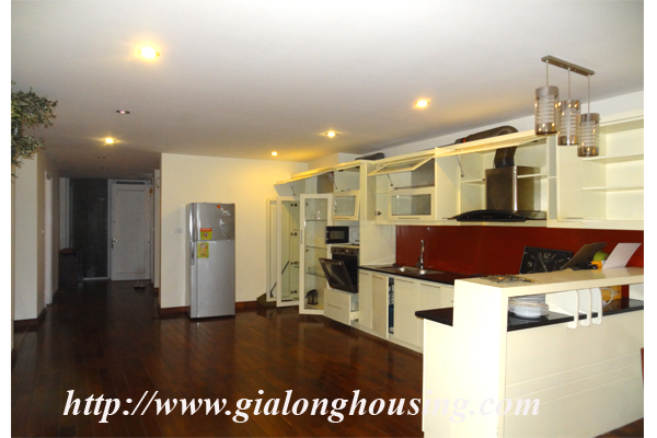 Apartment has a large balcony overlooking the lake for rent in Tay Ho, Hanoi 1
