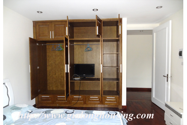 Apartment has a large balcony overlooking the lake for rent in Tay Ho, Hanoi 11