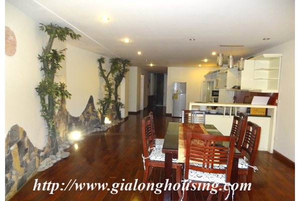 Apartment has a large balcony overlooking the lake for rent in Tay Ho, Hanoi 3