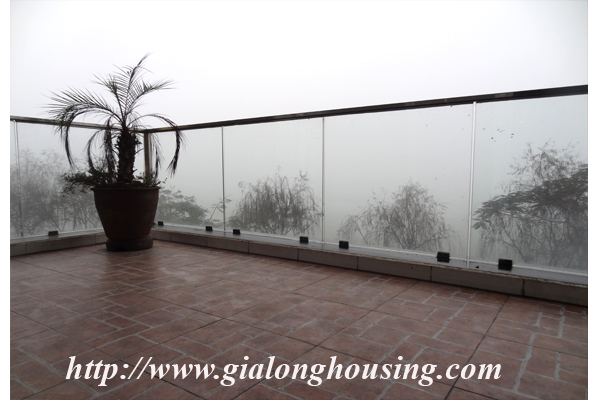 Apartment has a large balcony overlooking the lake for rent in Tay Ho, Hanoi 6