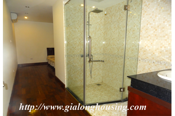 Apartment has a large balcony overlooking the lake for rent in Tay Ho, Hanoi 8