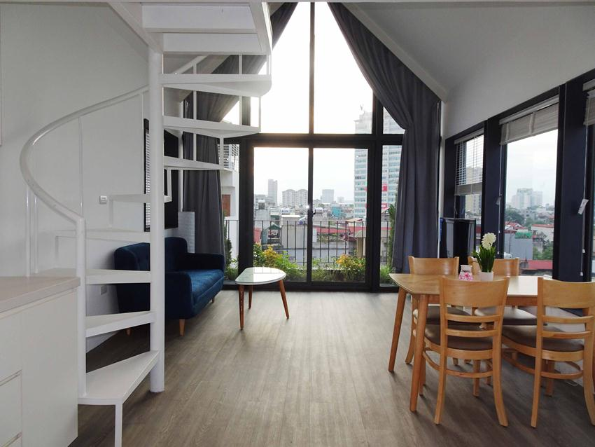 Beautiful duplex rooftop apartment in Hoang Hoa Tham