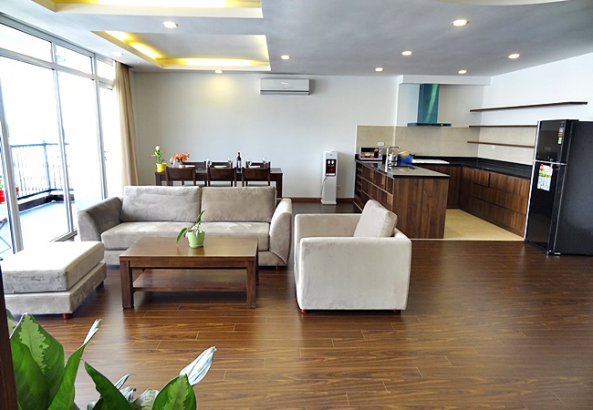 Beautiful lake view apartment for rent in Tu Hoa, Hanoi