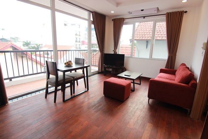 Brand new serviced apartment with nice balcony in To Ngoc Van