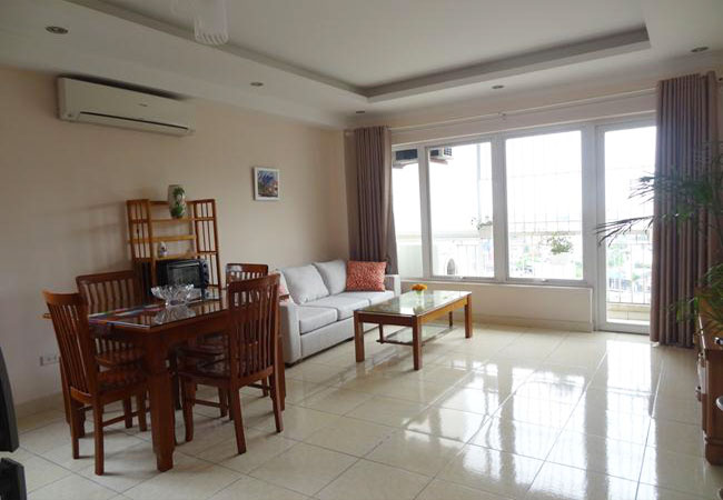 Bright and cool serviced apartment for rent in Pho Duc Chinh