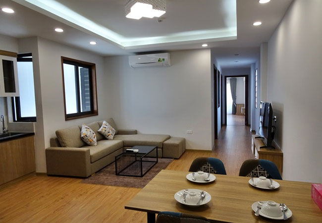 Bright serviced apartment for lease in Yen Phu village,Tay Ho district