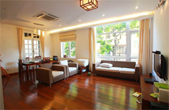 Comfortable apartment for rent in Xuan Dieu street Hanoi