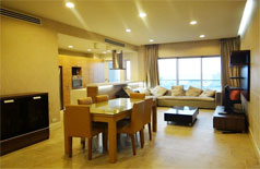 Fully furnished apartment for rent in high floor of Golden Westlake
