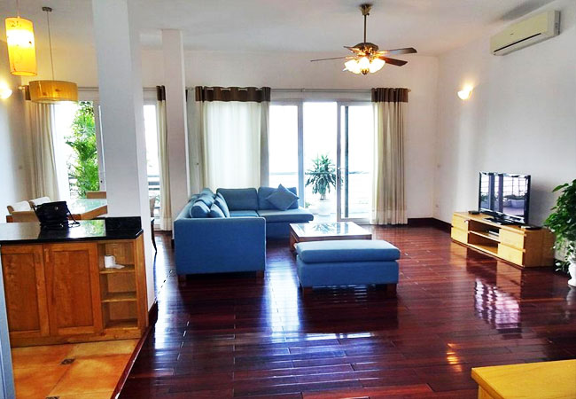 Lake view Apartment for rent in Quang An str, large balcony, nice furnished