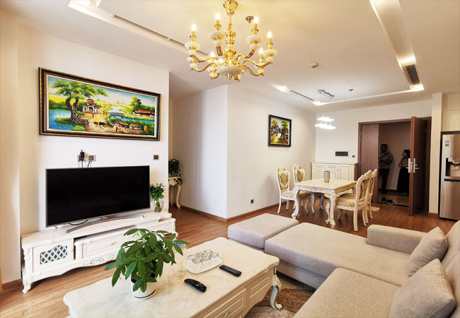 Luxury 02 bedroom apartment for rent in Vinhomes Metropolis