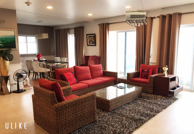 Nice furnished apartment for rent in Golden Westlake Hanoi