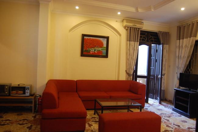 Serviced apartment for rent in Ngu Xa, Truc Bach area