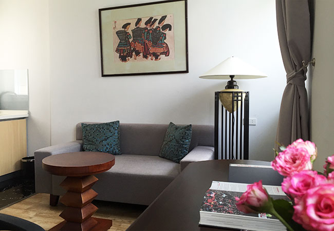 Serviced apartment near Giang Vo lake for rent