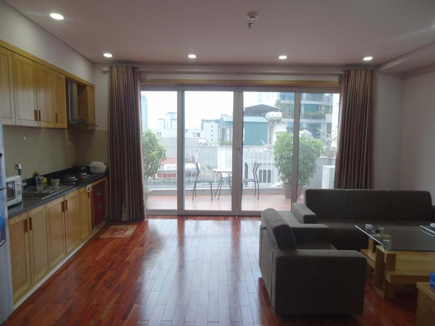 Serviced apartment with big balcony in Kim Ma