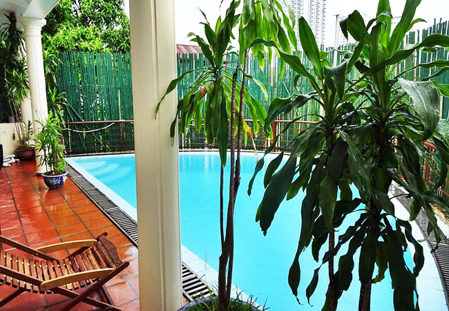 Swimming pool house for rent in To Ngoc Van street