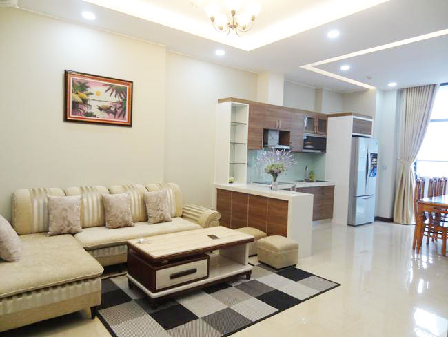 Trang An complex 3 bedrooms apartment for rent