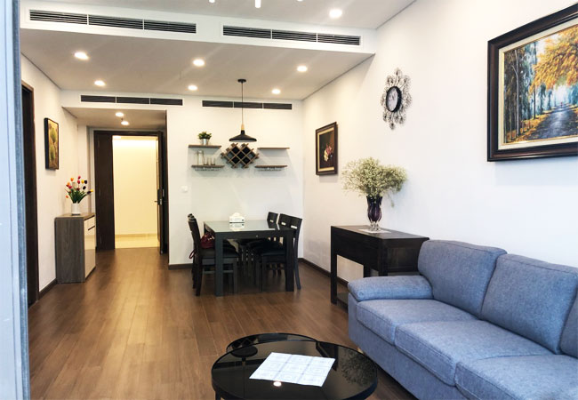 Two bedroom apartment for rent in Sun Ancora Luong Yen