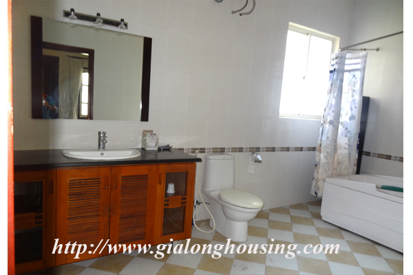 Villa for rent with large garden and yard in Tay Ho, Hanoi 16