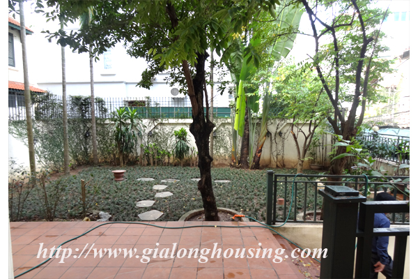 Villa for rent with large garden and yard in Tay Ho, Hanoi 4