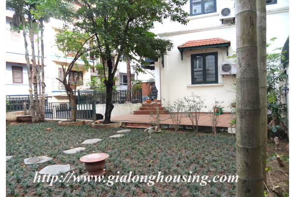 Villa for rent with large garden and yard in Tay Ho, Hanoi 5